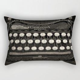 Old Typewriter Keyboard Rectangular Pillow