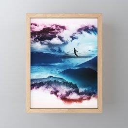 End of isolation Framed Mini Art Print