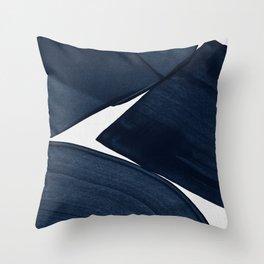 Minimalist Painting Blue II, Modern Abstract Throw Pillow