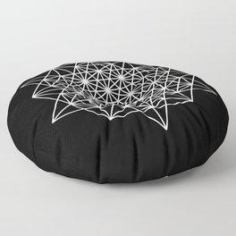 White star tetrahedron Floor Pillow
