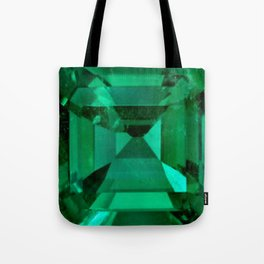 FACETED EMERALD GREEN MAY GEMSTONE Tote Bag