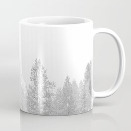 Snow Day // Black and White Winter Landscape Photography Snowing Whiteout Blizzard Coffee Mug