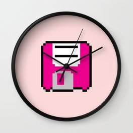 Floppy Disk - Pink Wall Clock