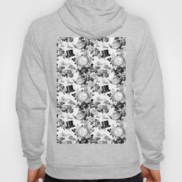 Alice in Illustration C15 Wonderland Mad Hatter Afternoon Tea Time Hoody