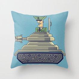 General Mayhem — cartoony vector illustration Throw Pillow