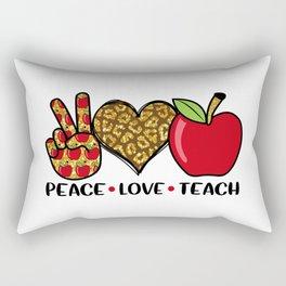 Peace Love Teach Cool T Shirt Rectangular Pillow