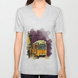 Tram 2 Art Deco Unisex V-Neck