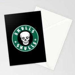 Star Skulls.  Stationery Cards