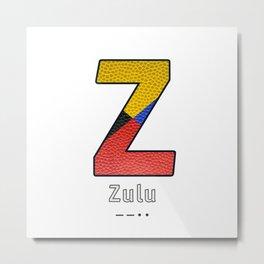 Zulu - Navy Code Metal Print