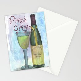 Watercolor Wine Stationery Cards