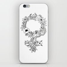 Feminist Flower  2.0 iPhone & iPod Skin