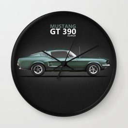 The Bullitt Mustang GT 390 Wall Clock