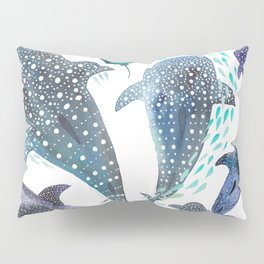 Whale Shark, Ray & Sea Creature Play Print Pillow Sham