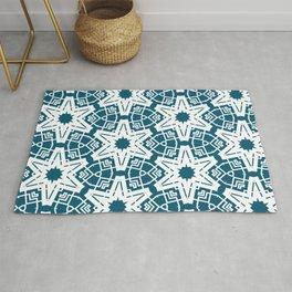 Modern ornamental geometric pattern Rug
