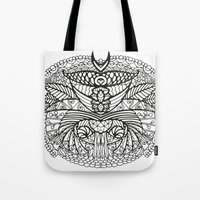 ornate Tote Bags featuring Ornate by RifKhas