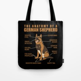 German Shepherd Anatomy Tote Bag