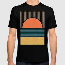 Sun Beach Stripes - Mid Century Modern Abstract T-shirt