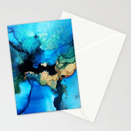 Stella Blue & Gold Stationery Cards