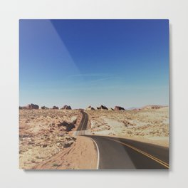 Road to the Valley of Fire Metal Print