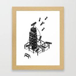 Bombs Framed Art Print