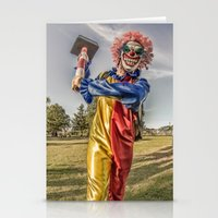 clown Stationery Cards featuring CLOWN by Steve Zar