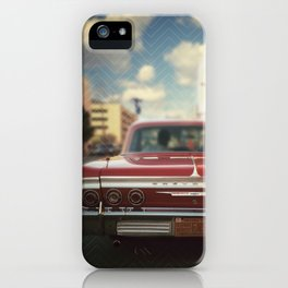 In the city, looking pretty iPhone Case