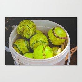 A Bucket Full of Softballs Canvas Print