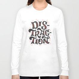 DISTRACTION // Dark Gray Long Sleeve T-shirt