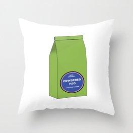 Powdered H2O Throw Pillow