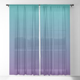 Ombre | Color Gradients | Gradient | Two Tone | Teal | Purple | Sheer Curtain
