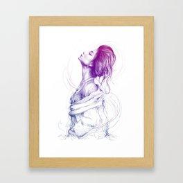 Beautiful Woman Lady Portrait Fashion Art Framed Art Print