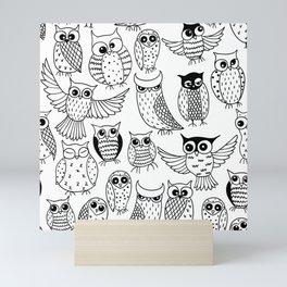 Funny owls Mini Art Print