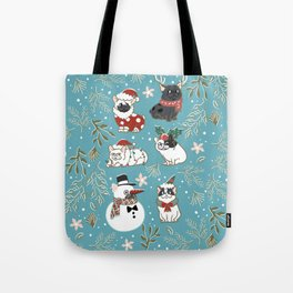 Christmas French Bulldog Tote Bag