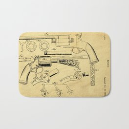 Revolver Support Patent Drawing From 1856 Bath Mat