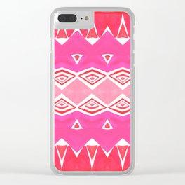 Geo Triangle  2 Clear iPhone Case