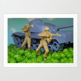 War and peas Art Print