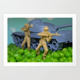 War and peas Art Print