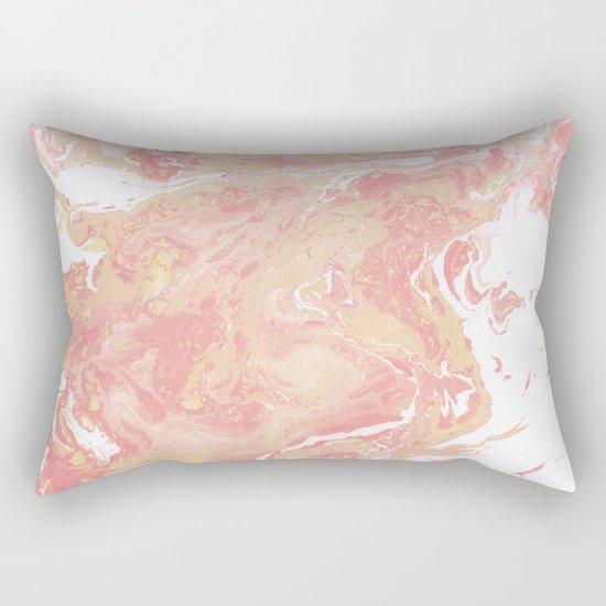 Marble texture background pastel cream shades . Rectangular Pillow