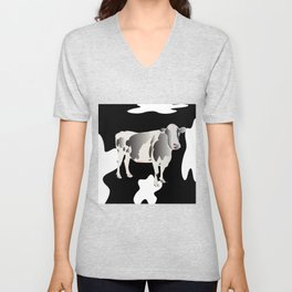 Country Cow Unisex V-Neck