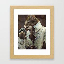 Elvis Petme Framed Art Print