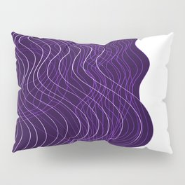 Waves Lines in Purple Pillow Sham