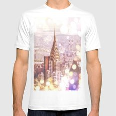 NYC MEDIUM White Mens Fitted Tee