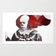 Galaxy Tim Curry Pennywise the Dancing Clown Art Print