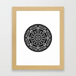 Modern Mandala (Black & White) Framed Art Print