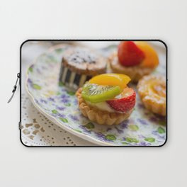 Small fruit tarts laid out on an antique china plate Laptop Sleeve