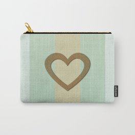 Big Gold Heart Pastel Green Yellow Romantic Love Carry-All Pouch
