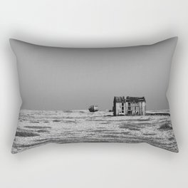 Shack by the sea Rectangular Pillow