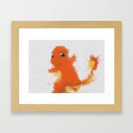 #004Charmander Framed Art Print