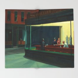 Edward Hopper's Nighthawks Throw Blanket