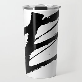 Letter E Ink Monogram Travel Mug